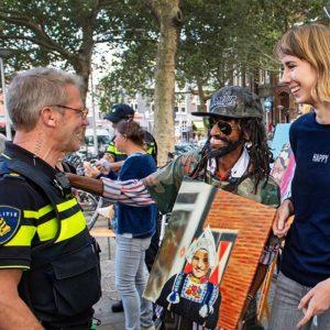 Nijmegen/Nederland:  Vreemde vrienden project: William, Yared Kalefa en Anne Dgfoto foto: Bert Beelen